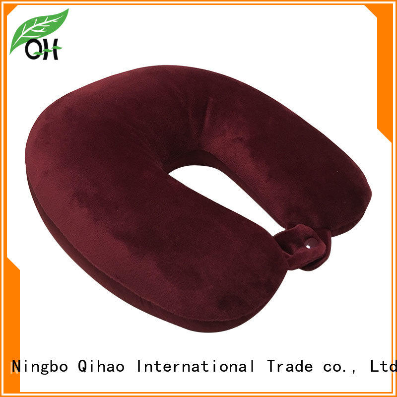 Qihao fine- quality best travel pillow for planes free design for sleeping