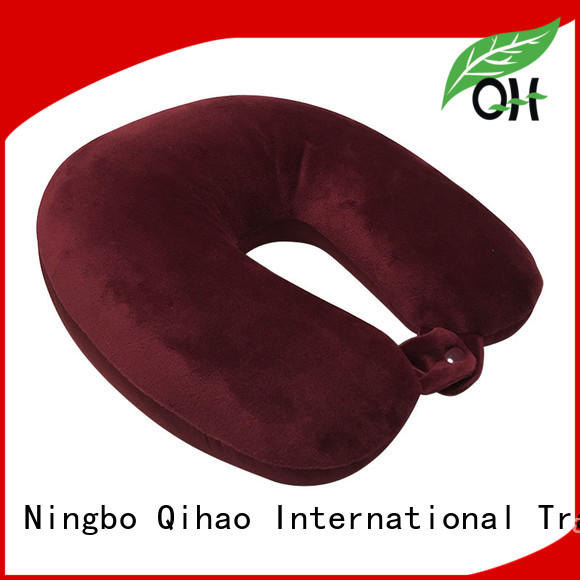 Qihao advanced u shaped travel pillow company for businessmen