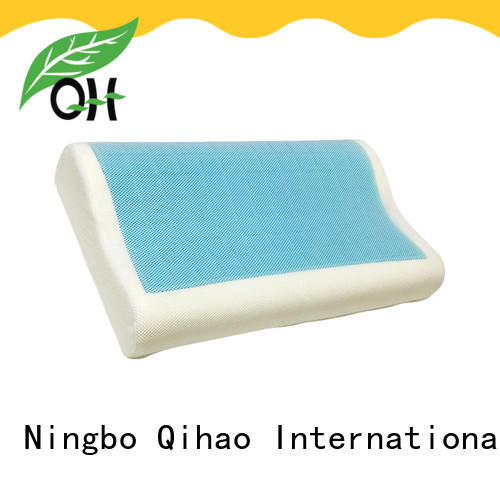 Qihao nice cool gel memory foam pillow king size silicone for travel
