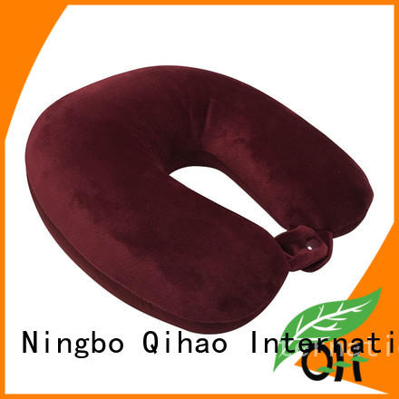 High-quality u shaped travel pillow velvet manufacturers for sleeping