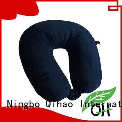 Qihao hook best memory foam travel pillow manufacturers for sleeping