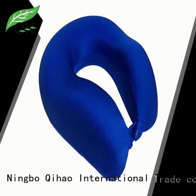 Qihao lycra best memory foam neck pillow design for office